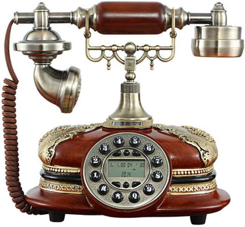 TelPal Antique Telephone Corded Home Office Hotel Phone Vintage Classic Decorative Landline Telephones