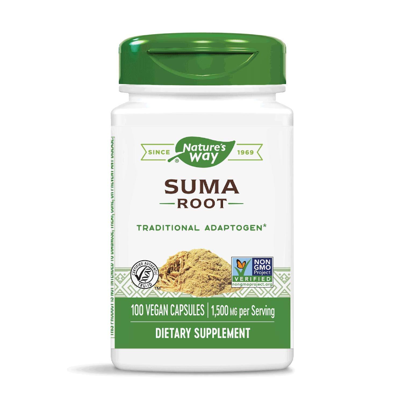 Nature's Way Suma Root (Brazilian Adaptogen), 1,500 mg per serving, 100 Capsules