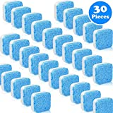 30 Pieces Solid Washing Machine Cleaner Effervescent Tablet Washer Cleaner Deep Cleaning Remover with Triple Decontamination for Bath Room Kitchen