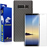 ArmorSuit MilitaryShield - Galaxy Note 8 Screen Protector + Black Carbon Fiber Skin Wrap Protector - Lifetime replacement