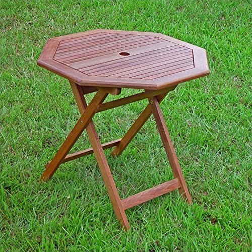 International Caravan VF-4146-IC Furniture Piece Acacia Octagonal Folding Table