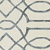 "Rivet Modern Intertwined Wool Rug, 7""6' x"