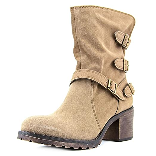 Womens Vance Suede Closed Toe Mid-Calf Combat Boots