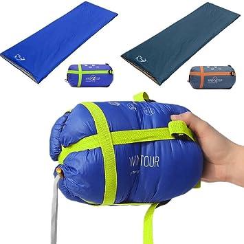 CAMTOA Mini-Saco de dormir y funda de viaje térmica primavera de otoño de senderismo Azul azul: Amazon.es: Deportes y aire libre