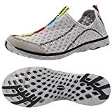 Aleader Men's Mesh Slip On Water Shoes Gray 9.5 D(M) US