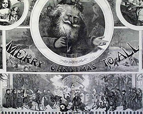 Displayable Thomas Nast Santa Claus - Harper's Weekly, December 30, 1865 - The Holy Family - Christmas