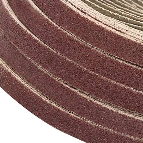 ZANYUYU Durable 50pcs 10x330mm Zirconia Sanding Belt 40/60/80/120 Grit Aluminium Oxide Abrasive Tools (Size : 120#)