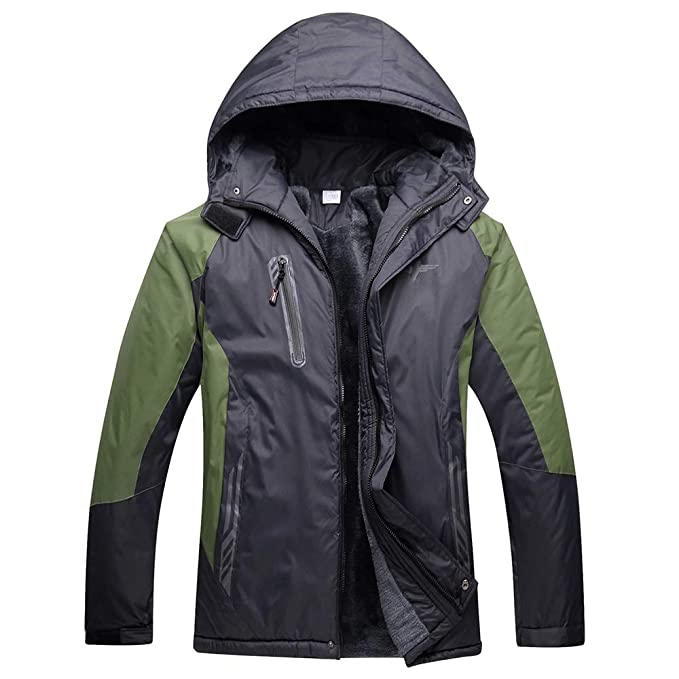 de9e4b59d ZEVONDA Rain Jacket - Men's Winter Wear Resistant Waterproof Keep ...