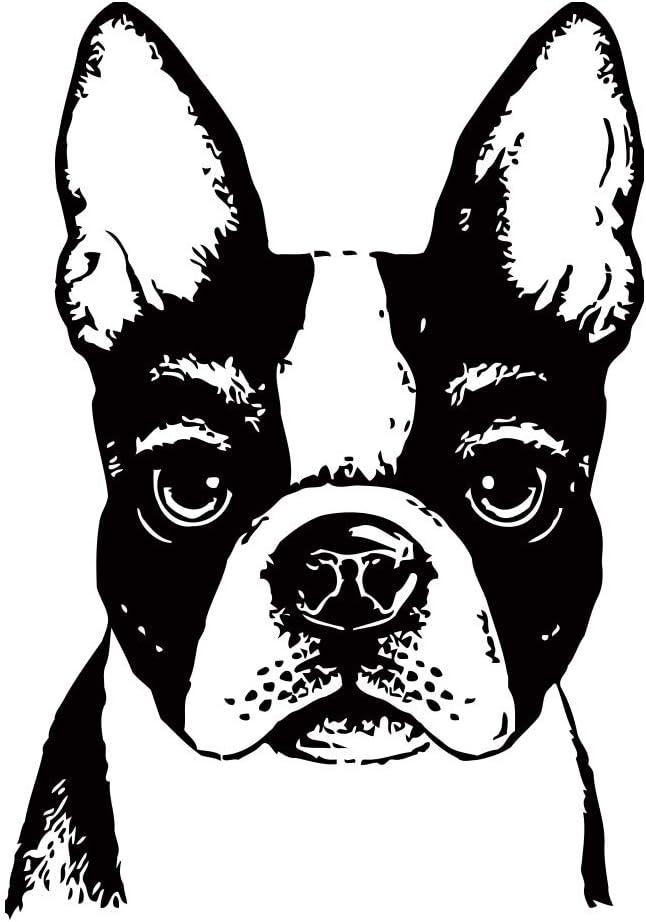 Multiple Color /& Sizes Vinyl Decal Sticker Boston Terrier Dog ebn1926
