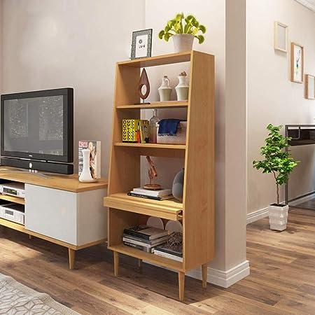 HM&DX Almacenaje Estantería Escalera,Madera 4 estantes Librerías Muebles VersÁtil Organizador Estante de exhibición para Salon Oficina Dormitorio-Nuez Clara L: Amazon.es: Hogar