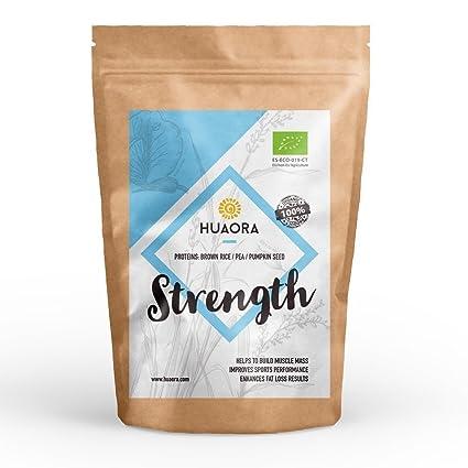 Huaora Strength - Proteína de arroz integral, proteína de guisante y proteína de semilla de