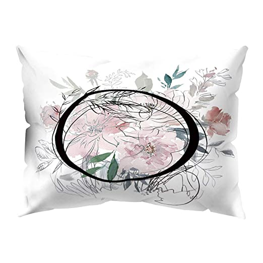 DarweirlueD - Funda de cojín con diseño de Flores, O ...