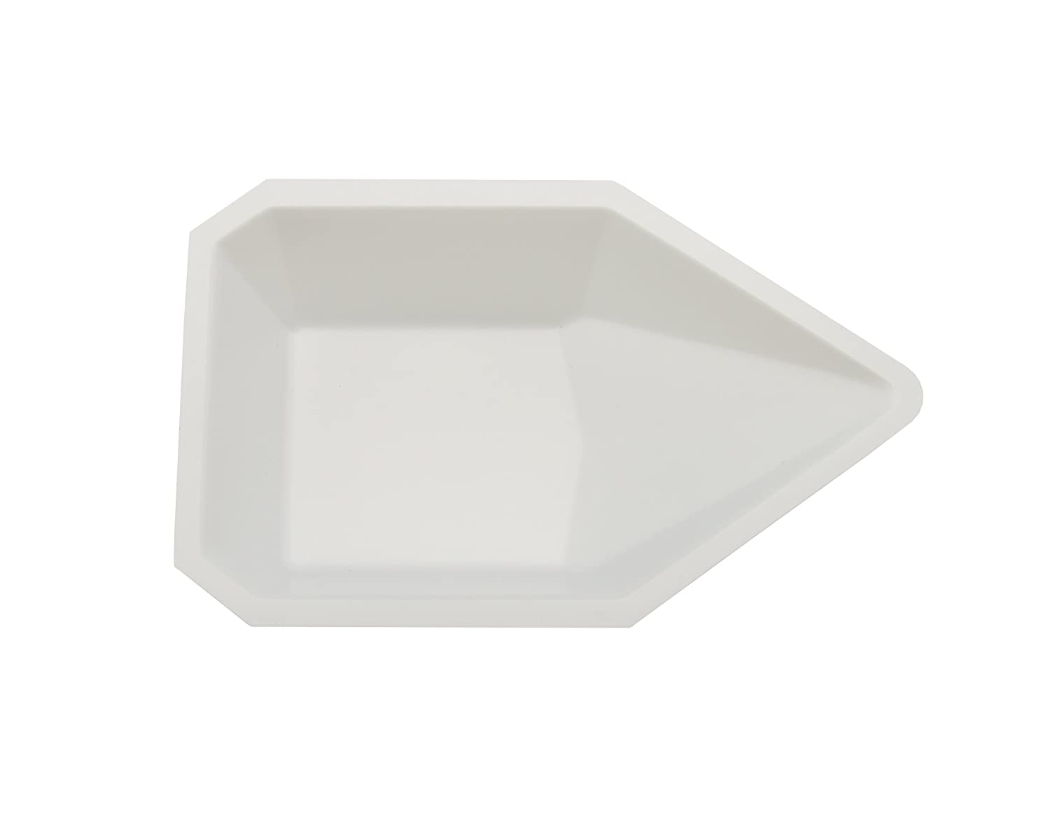 Heathrow Scientific HD1419B Pour Boat, Polystyrene, 83 mm Length x 132 mm Width x 26 mm Depth, White (Pack of 500) HS1419B