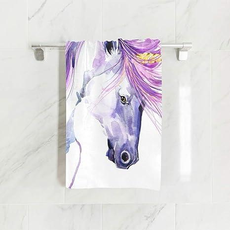 Ahomy Toallas de Mano, 38 cm x 76 cm, Toallas Multiusos de Unicornio para Acuarela, Extra absorbentes para baño, Mano, Cara, Gimnasio y SPA: Amazon.es: ...
