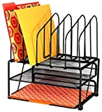 DecoBros Mesh Desk Organizer with Double Tray and 5 Upright Sections (Office Product)