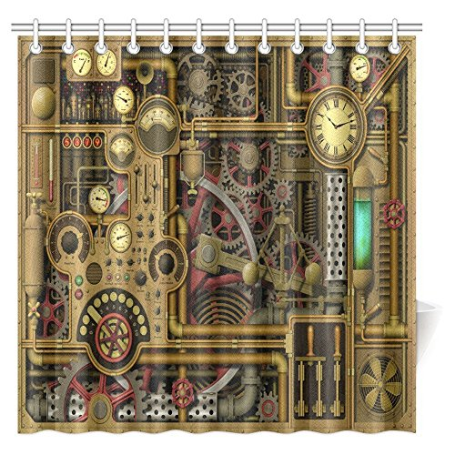 Gears, Clocks, Dials, Cogs and Switches Shower Curtain