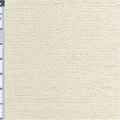 Cream Ivory Primo Chenille Home Decorating Fabric, Fabric By the Yard