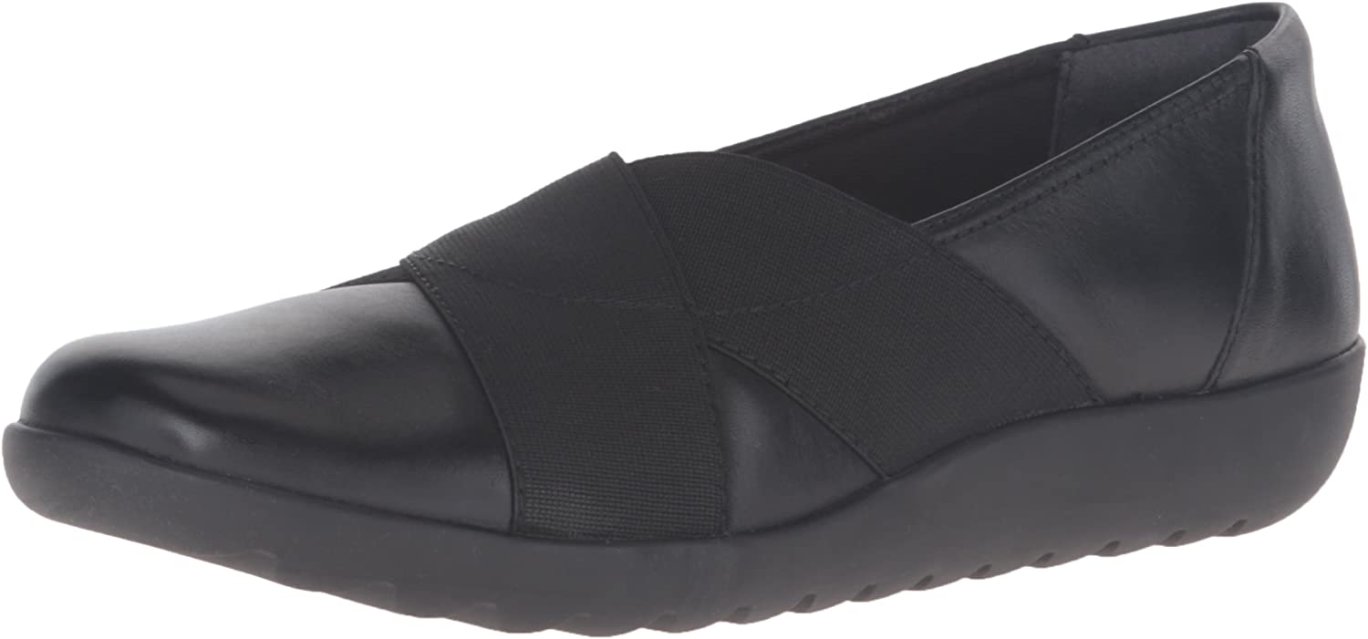 Details about  /Clarks Collection Leather Slip-On Shoes Medora Gemma