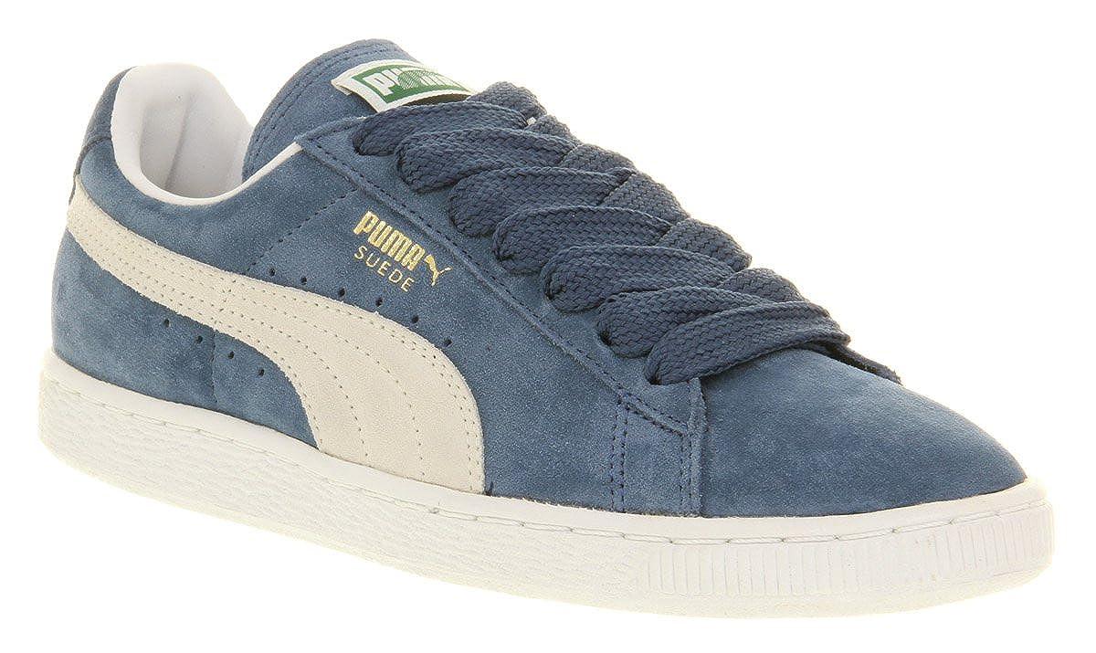 3a0593a27d7 Puma Suede Classic Ensign Blue White - 11 Uk: Amazon.co.uk: Shoes & Bags