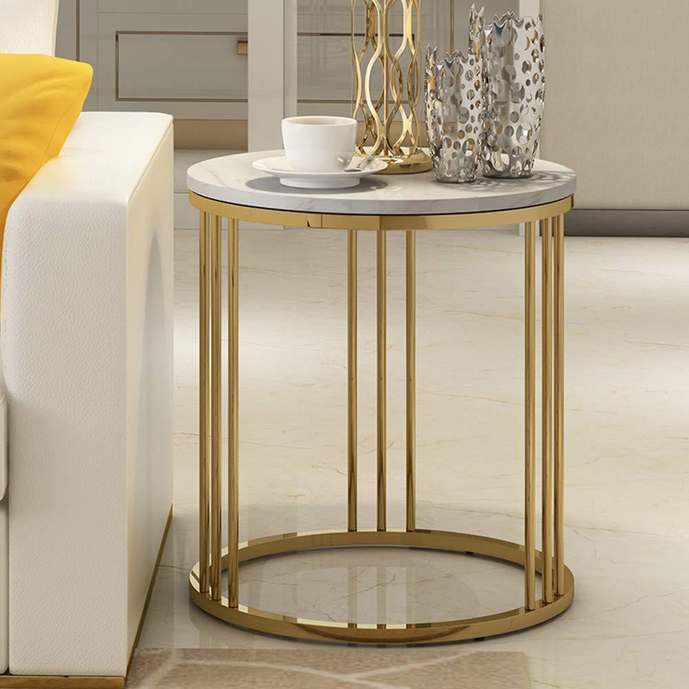 Amazon.com: Mesa auxiliar de estilo nórdico, mesa redonda de ...