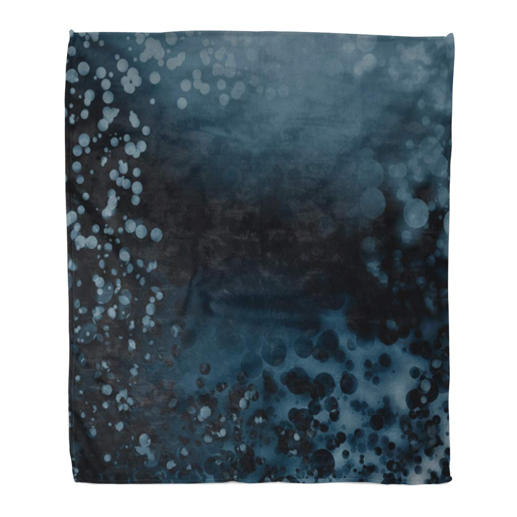 Multi 5 50  W x 60  L Emvency Throw Blanket Warm Cozy Print Flannel Handdrawn Horse Head Watercolor Splash Animal Comfortable Soft for Bed Sofa and Couch 60x80 Inches