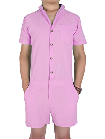 c7f5a460d9e8 chicolife Mens Romper Overall Playsuit