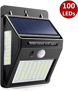 AIMENGTE Luz Solar Jardín, 100 LED 1200 mAh Lámpara Solar con Sensor Movimiento de 270º Gran Angular Exteriors Impermeable para Patio Jardín balcón: Amazon.es: Iluminación