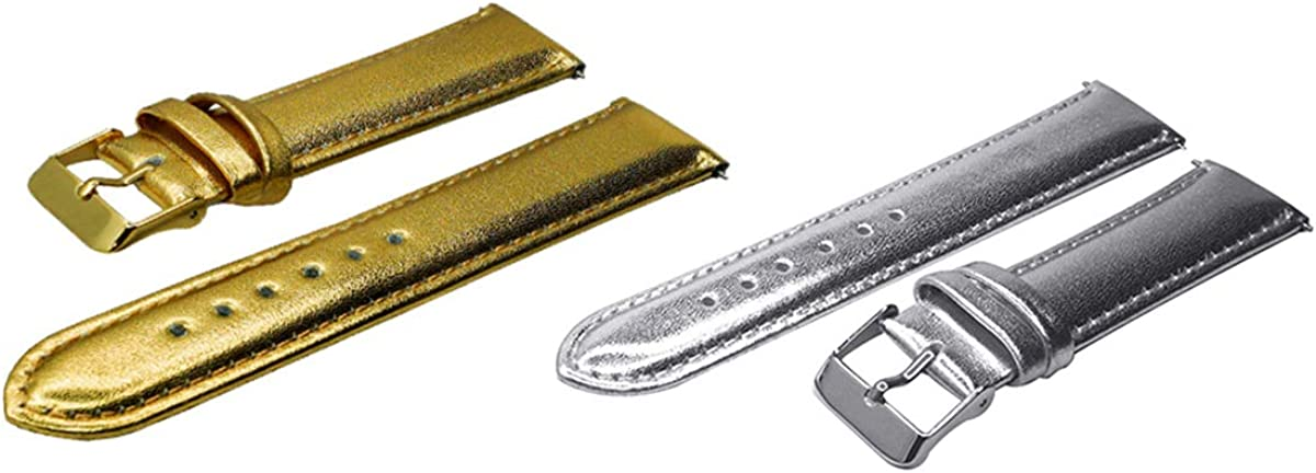 12mm-30mm Uhrenarmband Uhrenarmband Leder Uhrenzubehör Silver