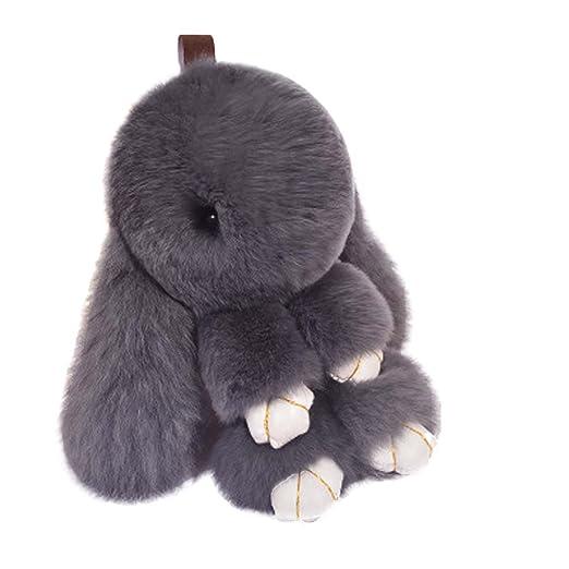 Diamoen 13cm Rex muñeca Conejo llaveros Conejo de Conejito ...
