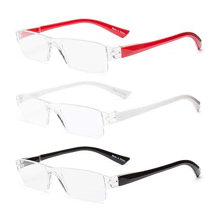 Paquete de 3 lentes, lectura y presbicia con estuches sin montura y tres delgados(Classic, 3.0)