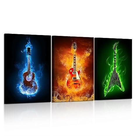 Amazon.com: Kreative Arts – 3 piezas lona fuego Eletric ...