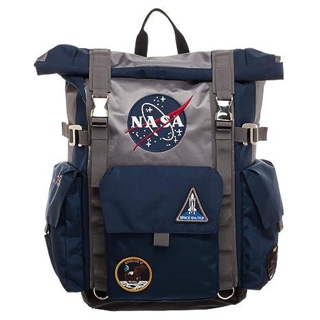 NASA Backpack Roll Top Built Up Laptop Bag