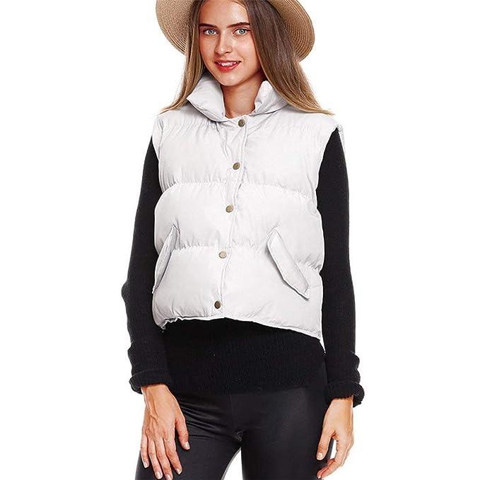 ... Elegantes Sleeveless Chaqueta Acolchada Ropa Color Sólido Casual Niña Vest Fashion Termica Chaqueta De Temporada Abrigos: Amazon.es: Ropa y accesorios