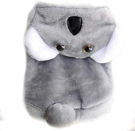 Disfraz de oso de koala para perro Halloween, para invierno, forro ...