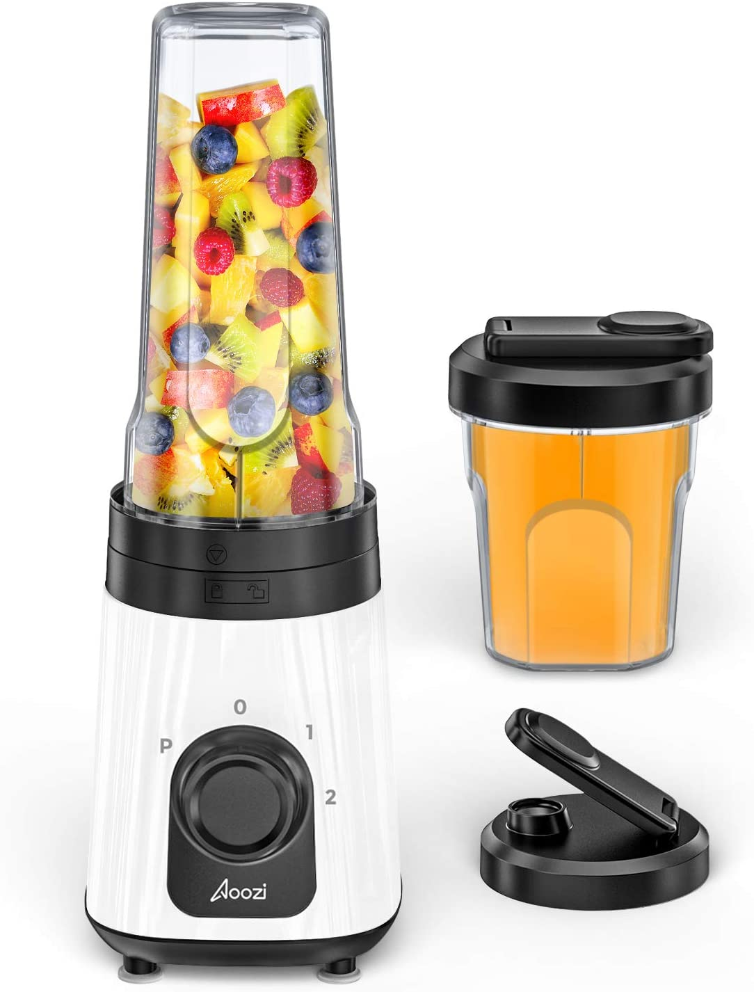 Personal Blender for Shakes and Smoothies, Single Serve Portable Smoothie Blender, Small Smoothie Maker with 3 Adjustable Speeds, 20Oz & 10Oz Blender Cups with Spout Lids