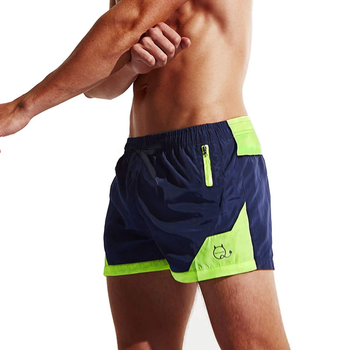 Lachi Mens Swimming Shorts Trunks Quick Dry Mesh Lining Aquashorts Beach Shorts with Pockets for Swim Bathing Serf