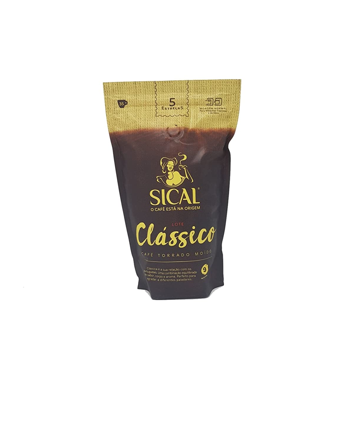 Amazon.com : Sical Portuguese Clasico Normal Ground Coffee Cafe 5 Estrelas 250g : Grocery & Gourmet Food