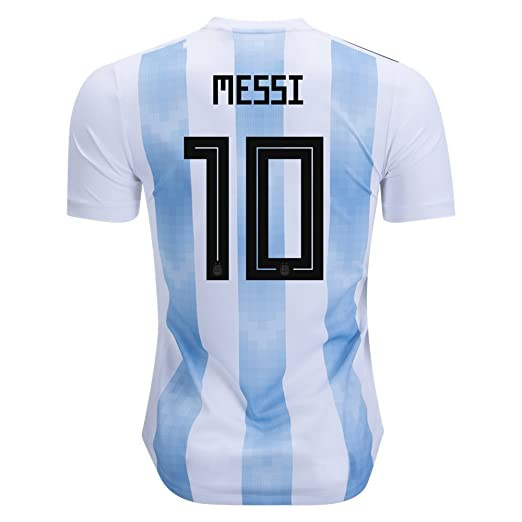 hot sale online 2c8b3 71490 Argentina #10 Messi Home Jersey 2018 World Cup National Team Mens Soccer  Jersey Color White/Blue Size S