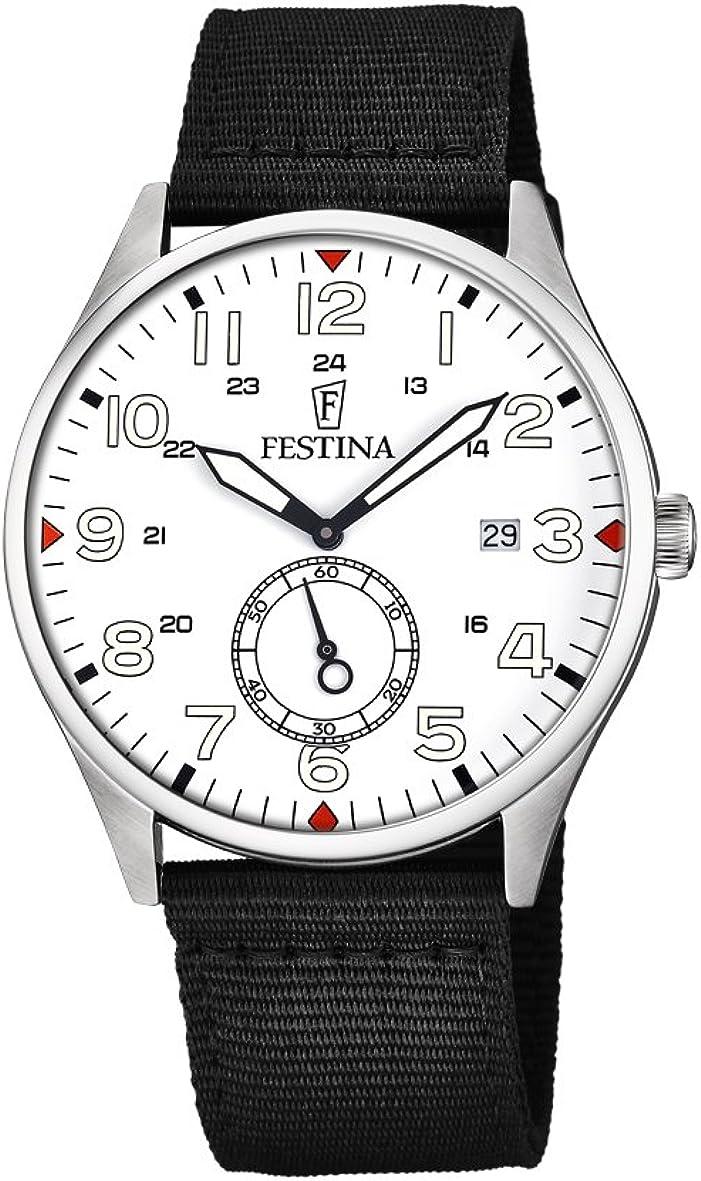 Festina Reloj Análogo clásico para Hombre de Cuarzo con Correa en Nailon F6859/2