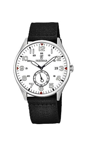 Festina Reloj Análogo clásico para Hombre de Cuarzo con Correa en Nailon F6859/2: Amazon.es: Relojes