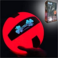 MCNICK & COMPANY Glow in The Dark Outdoor Volleyball - LED Light up Volleyball - 100 Hour Battery Life