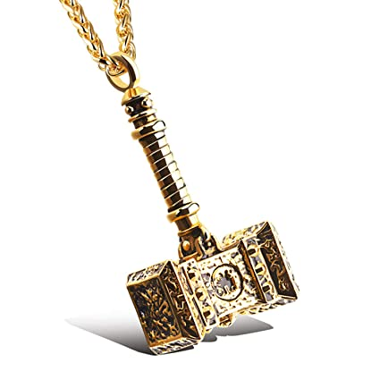 Amazon Com 2019 Fashion New Male Stainless Steel Hammer Pendant