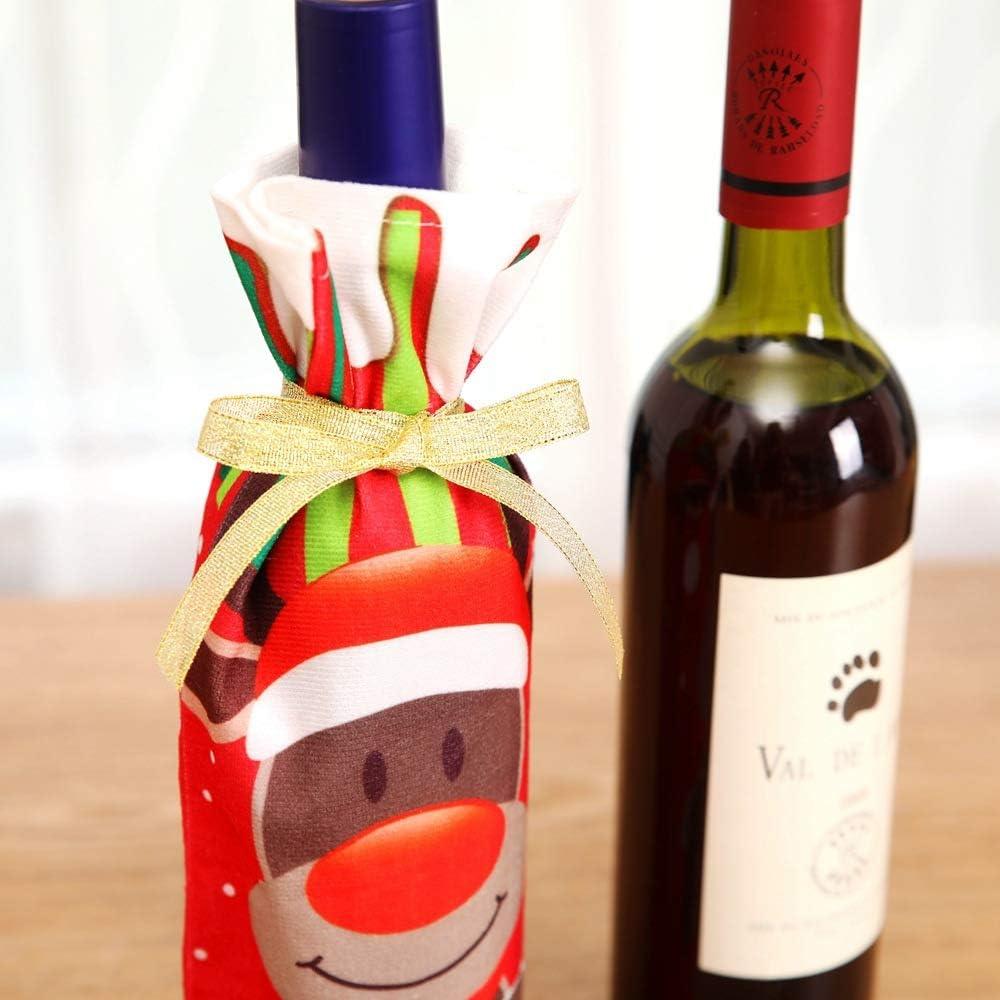 Shuzhen,Gorra de Papá Noel Decorada con 3 Piezas de Botella de ...