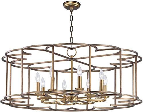 Maxim Lighting 24734BZF Helix – Eight Light Chandelier, Bronze Fusion Finish
