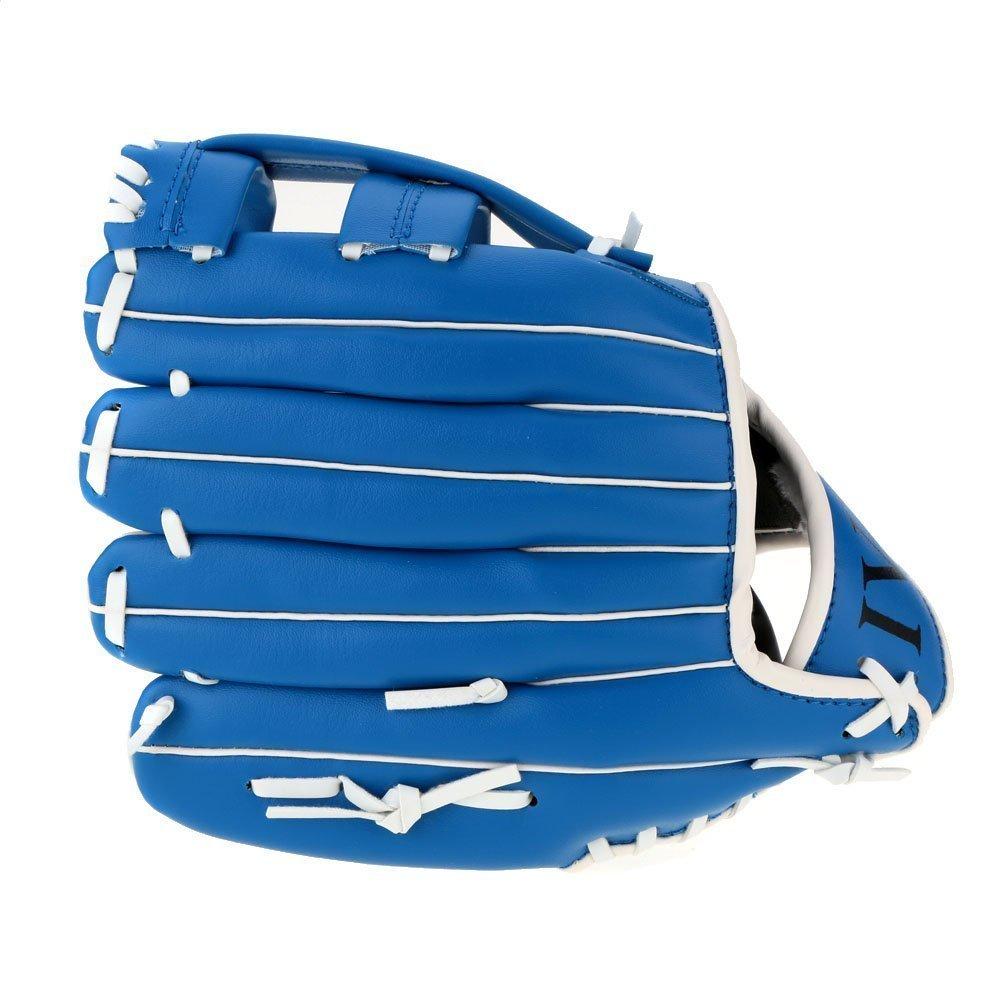 SODIAL 10.5インチ ソフト柔らかいボール野球グローブ手袋 アウトドアチームスポーツに適用しています レフトハンド ブルーカラー B01JU80YQC 11.5インチ