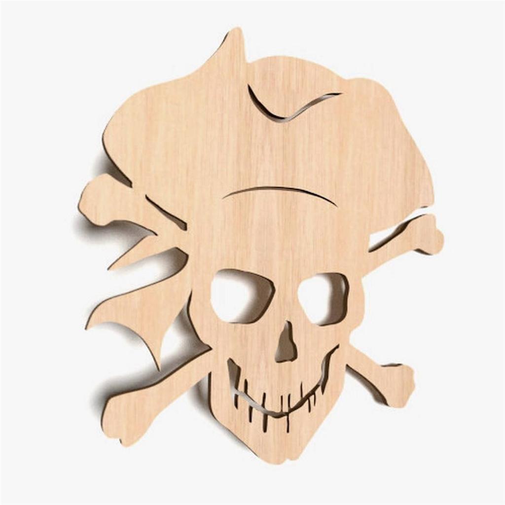 10x Holz Piraten Totenkopf ShapeBuccaneer Basteln Dekoration Malen ...