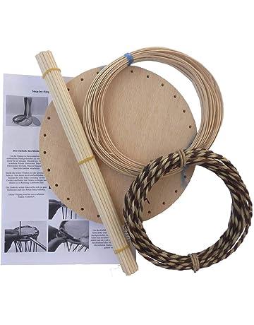 Korbflecht-Set 6x Stifteköcher aus Peddigschiene Bastelspaß zum Kindergeburtstag