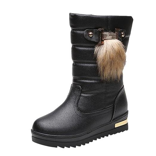 Elevin(TM)2017Women Winter Warmful Fashion Mid Calf Snow Boots Shoes