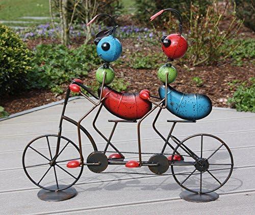 Jardín Figura 2 hormigas en bicicleta metal Figura Multicolor – h50 cm: Amazon.es: Jardín