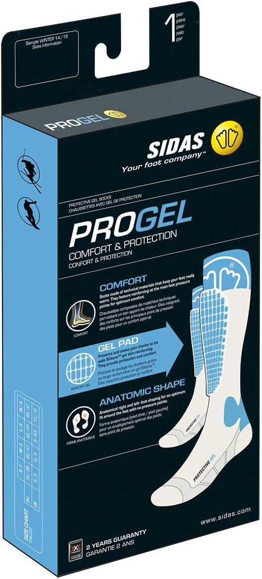 Sidas Protective Gel Chaussettes de ski mixte avec protection tibia en gel